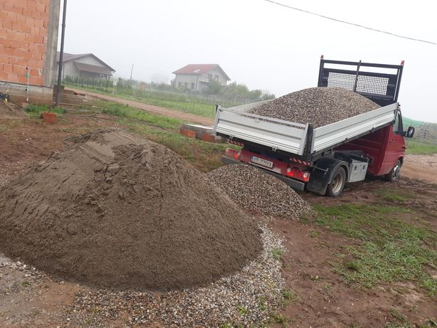 Transport sort,balastru,nisip cu camioneta de 3.5t