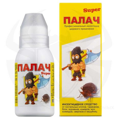 """Палач """"Super"""" от клопов, тараканов, блох, муравьев 100 мл"""