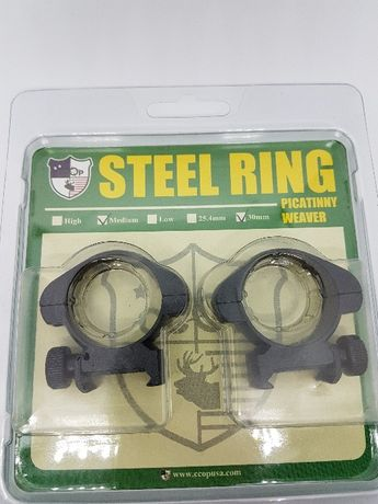 inele 30mm medii otel montaj luneta arma vanatoare sina picatinny 21mm