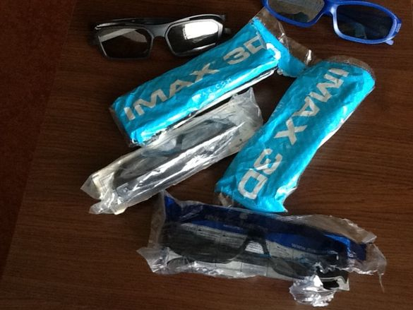Очила 3D за кино IMAX. Kino ARENA, kino SINEMA SITI