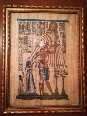 Картина на папирусе из Египта