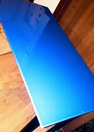 Masa modernă noua Glasholm-IKEA blat de sticla si picioare detasabile