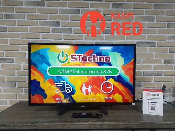 ТВ 81см Philips 32PFT4101 Full HD Рассрочка KASPI RED! Гарантия год!