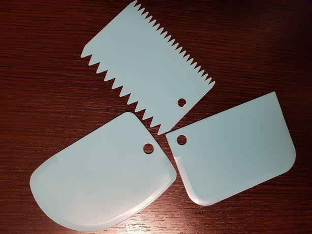 Set 3 spatule pentru aluat si decor prajituri