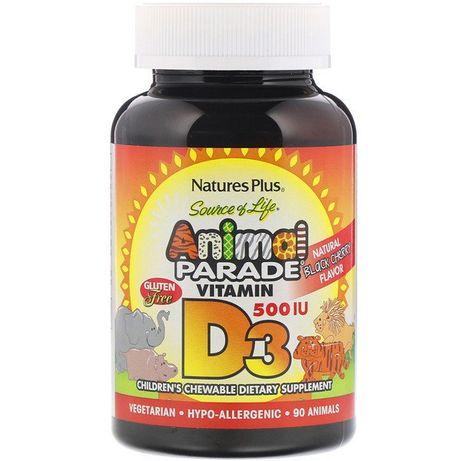 Витамин Д3 для детей, детский витамин Д3, Animal Parade, Д-3, D-3, D3