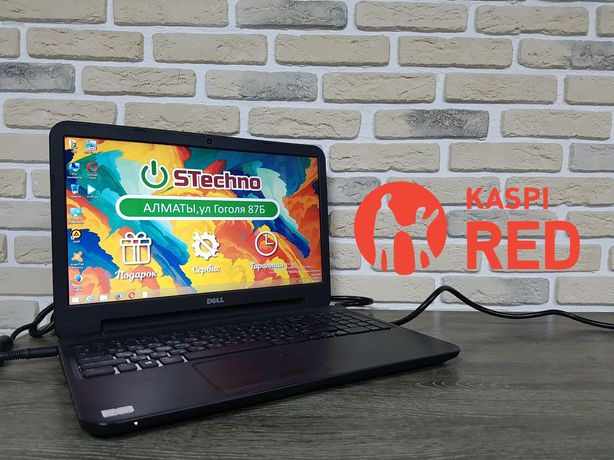 Ноутбук Dell 15 ОЗУ 2GB SSD 120GB Рассрочка KASPI RED!Гарантия 1год!