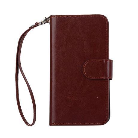 Husa iPhone X / XS, 2in1 piele fina CaseMe, tip portofel,curelusa mana