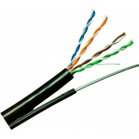 Ftp/м cat5e 24awg cca с носещо въже, фтп, мрежов кабел