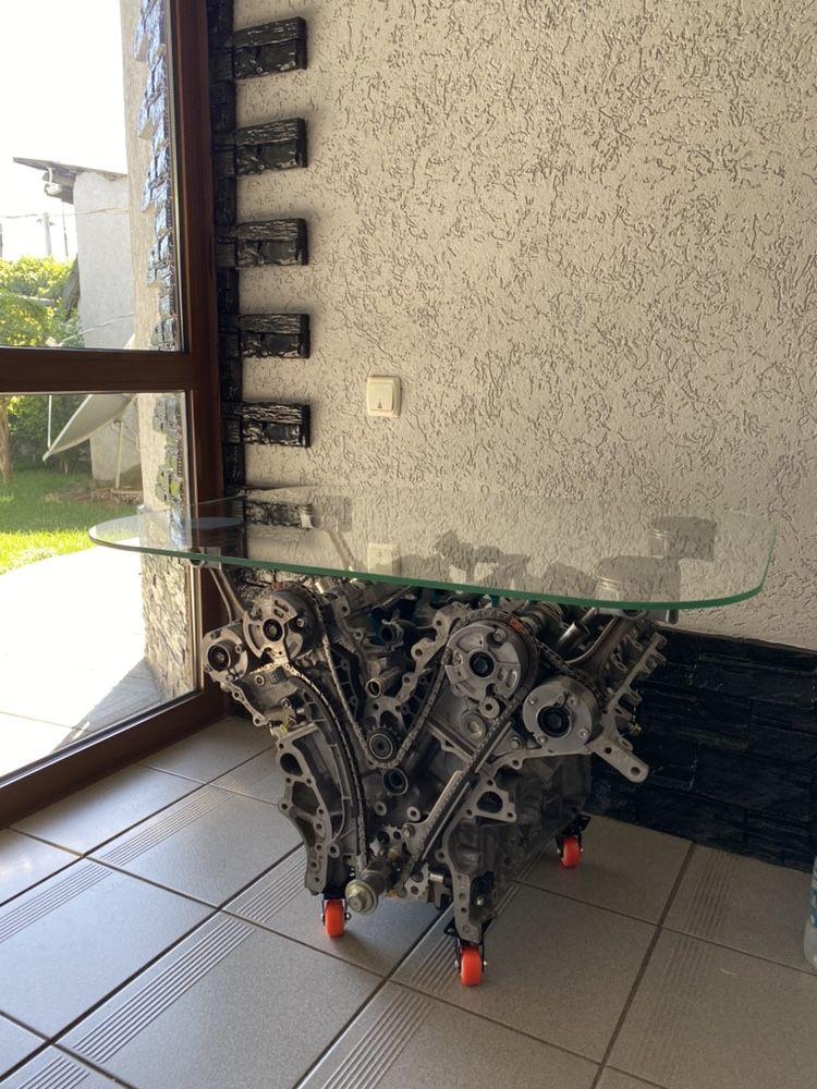 Продам столик журнальный в стиле лофт. Сделан из двигателя Lexus RX350