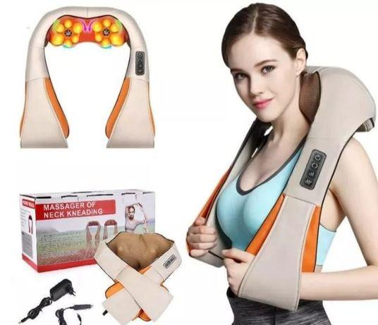 Массажер для шеи и спины роликовый массажер массажная подушка для авто