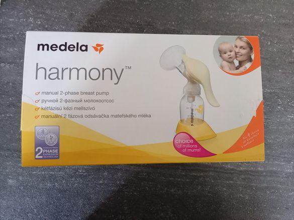 Двуфазна помпа за кърма Medela + накрайник за шише S НОВ