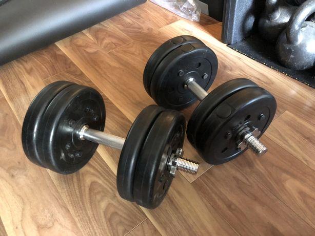 Gantere reglabile noi- 25 kg, 12,5+12,5=25 kg, pret 300 ron noi