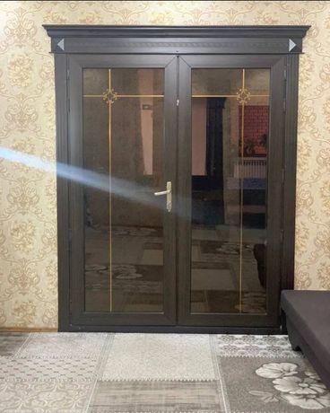 Пластиковые окна двери Витражи. Тёплая серия