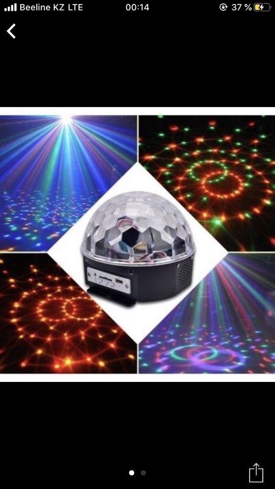Лазерный проектор,звёздное небо,диско шарLazer light,колонка