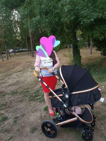 Carut bebe , scoica + landou