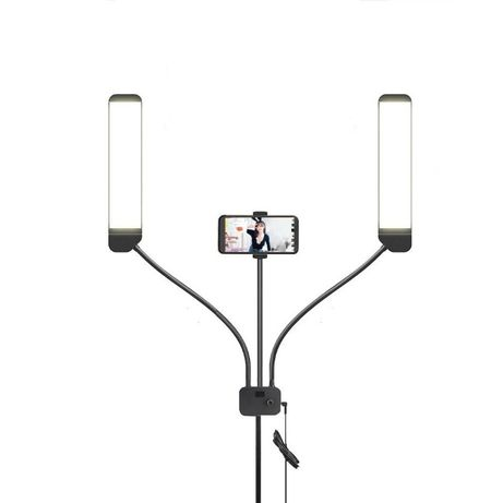 Lampa profesionala LED AL-45X 224 LED trei brate flexibile 3200-5600K