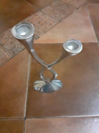 свещник месингов дизайнерски сребро