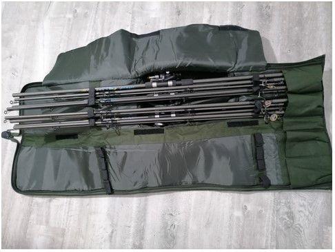 Set 4 Lansete Fino CARP 3.90 m/ EB-1 + 4 Mulinete KDL 60 + Husa Boilie