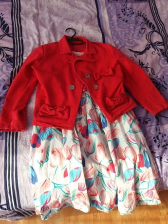 Детска рокля със сако