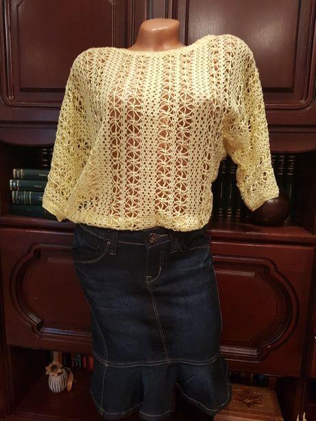Tricou/ bluza crosetat(a) mar36-38