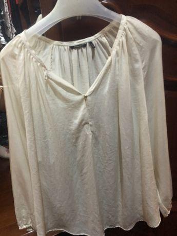 Massimo Dutti bluza cămașă mătase naturala