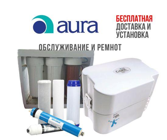 Обслуживание фильтра для воды, замена картриджей для AURA Cebilon
