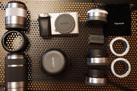 Sony A6000 + Accesorii + Lentile