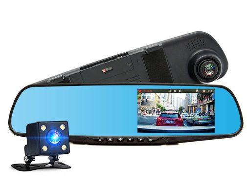 Огледало видеорегистратор с предна и задна камера и 4.3 инча дисплей