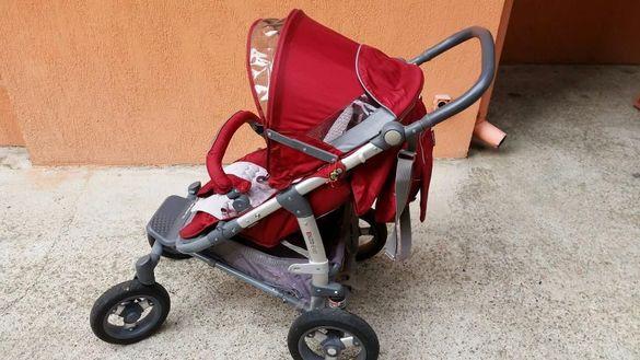 Комбинирана количка 2 в 1 2 в 1 Enzo Evo Red
