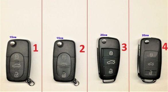Ключ кутийка дистанционно за Ауди Audi