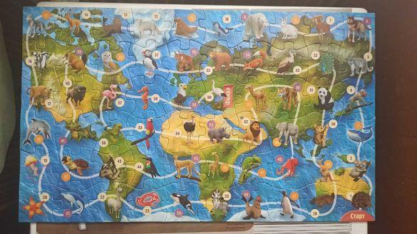 Пъзел части от играта на Kaufland Зооландия