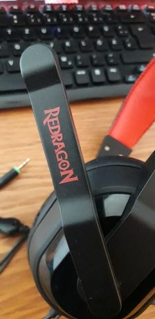 Casti Gaming Redragon Garuda, Cu microfon, Over-Head, Negru/Rosu