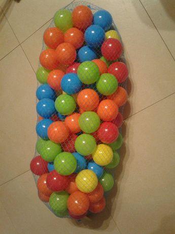 Set 100 mingi 6cm pentru piscina / joaca copii de la 1an, nou, saculet