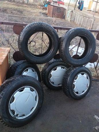 Продам колёса в сборе на фольксваген б3.