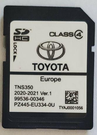 2021гд Ver.1 Toyota Навигационна SD card TNS350 Europe Сд Карта Тойота