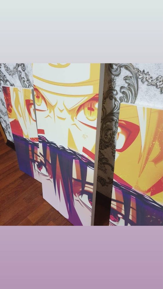 Продам модульную картину «Наруто»