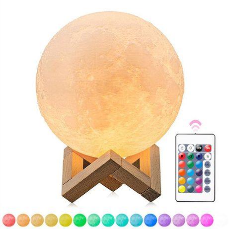Голяма LED луна-лампа 3D Moon light макет с поставка и дистанционно