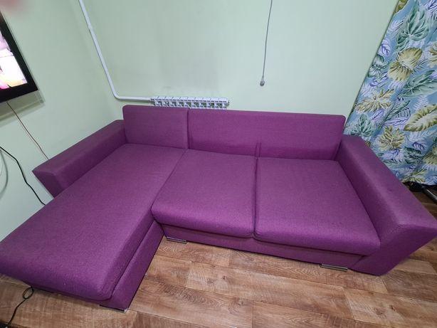 Угловой диван с отсеками для белья