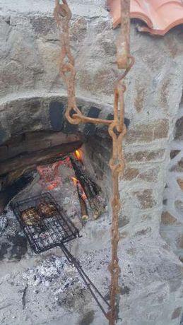 Камина, барбекю,ръчно кован синджир за камина