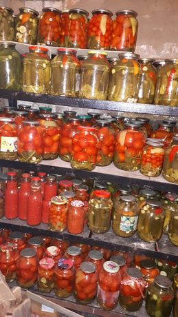 Маринованные огурцы и помидоры 2 и 3 л