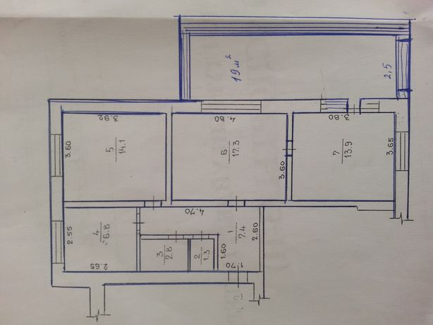 Продам 3 комнатную квартиру район ж-д вокзала