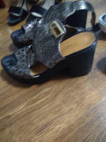 Sandale piele lacuita argintiu