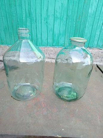 Продам стеклянные 10л банку  и бутыль