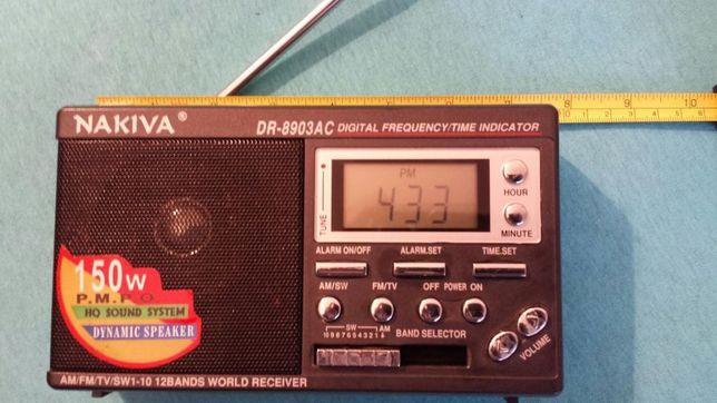 Radiou portabil Nakiva cu ceas,alarmă
