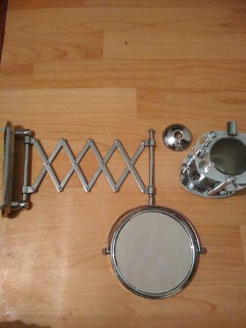 На стенное зеркало (выдвижное) со стаканчиком для пасты и щетки