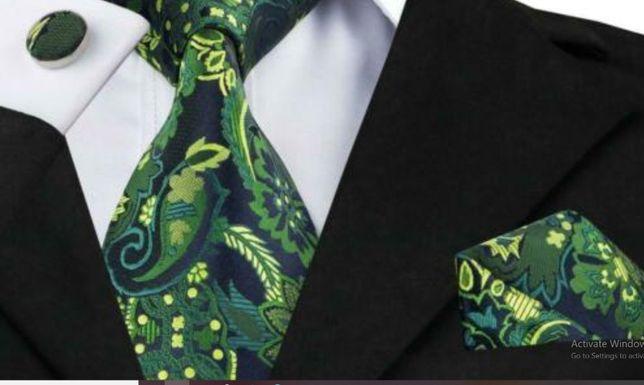 Set cravata matase butoni batista+ cutie cadou