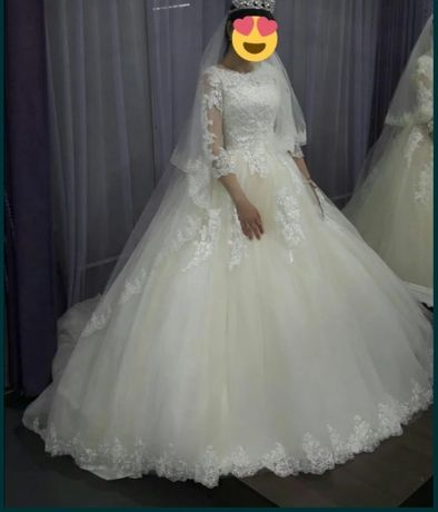 Свадебная платья с фатой