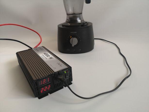 Invertor SINUS PUR 12V sau 24 V - 220V 2000w/3000w/4000w unda pura