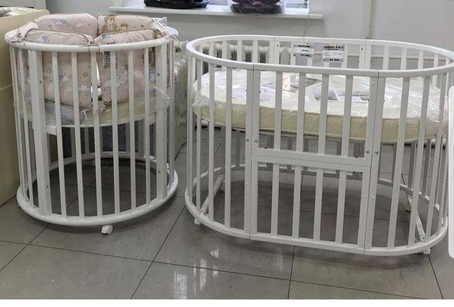 Детская овальная кроватка до 3 лет