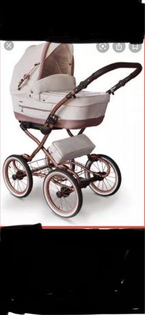 Ретро бебешка количка в модерен стил